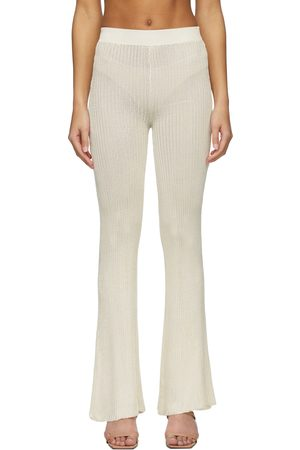 Calle Del Mar Women Sweats - Off- Ribbed Lounge Pants