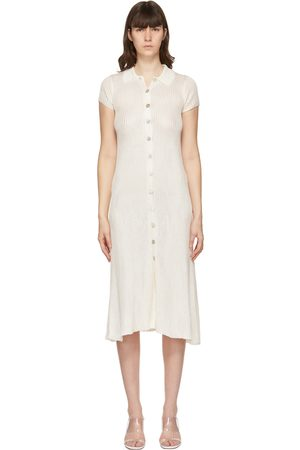 Calle Del Mar Off- Knit Ribbed Long Dress