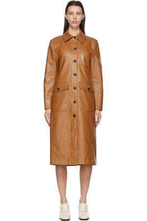 LVIR Women Coats - Faux-Leather Patchwork Coat