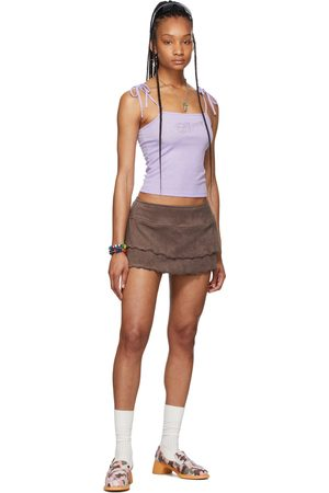 Im Sorry by Petra Collins SSENSE Exclusive Ruffled Dancer Miniskirt