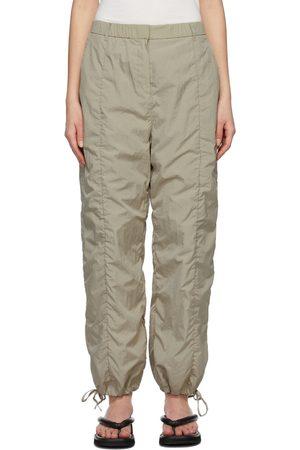 AMOMENTO Khaki Shirred Lounge Pants