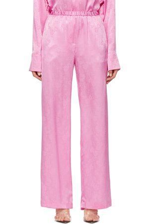Msgm Women Sweats - Silk Lounge Pants
