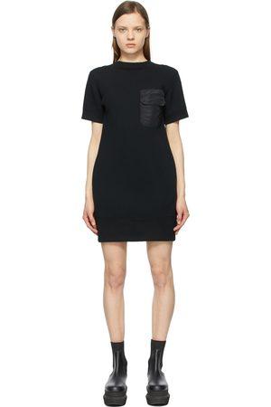 SACAI Open Back Sponge Sweat T-Shirt Dress