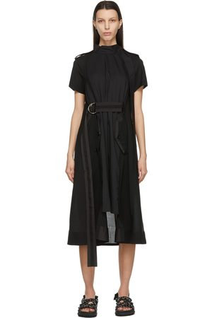 SACAI Neck Tie Suiting Dress