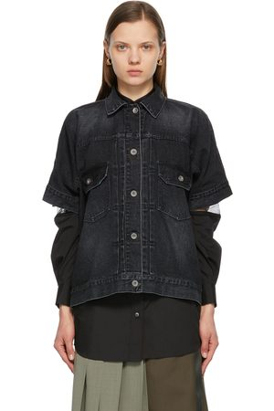 SACAI Denim Short Sleeve Shirt