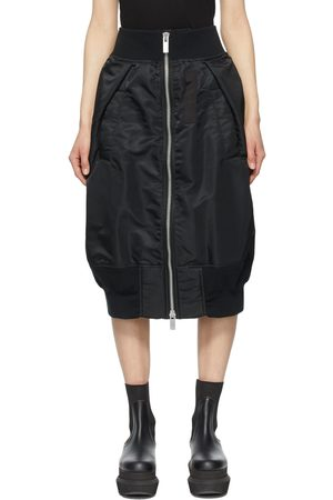 SACAI Women Midi Skirts - Nylon Zip-Up Bomber Skirt