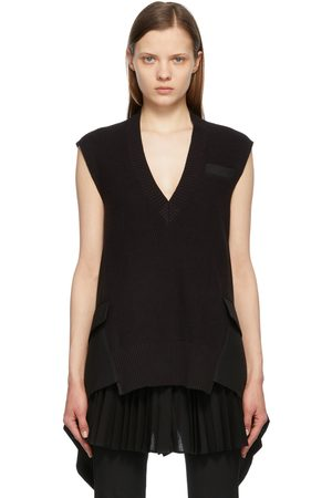 SACAI Women Tank Tops - Knit Suiting Pullover V-Neck Vest