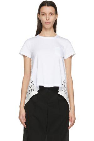 SACAI Women T-shirts - Lace Star Drape T-Shirt