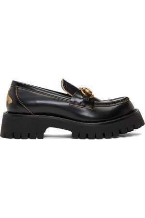Gucci Women Loafers - Leather Lug Sole Loafers