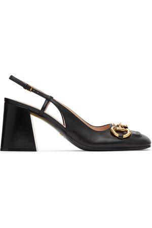 Gucci Horsebit Slingback Mid Heels