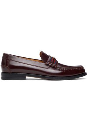 Gucci Burgundy Interlocking G Loafers