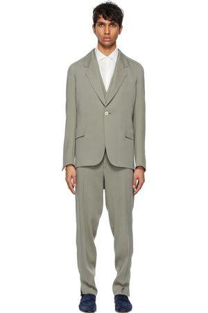 Ermenegildo Zegna Grey Viscose Three-Piece Suit
