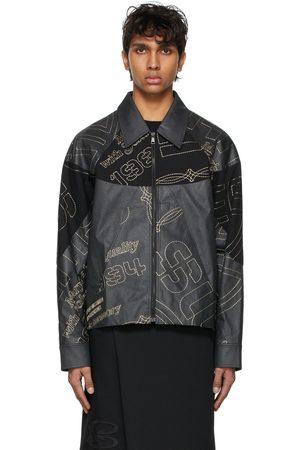 NAMESAKE Men Leather Jackets - SSENSE Exclusive Pulp Leather Monica Short Blouson Jacket