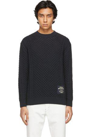 Stella McCartney Men Sweaters - Navy Shared Aran Stitch Sweater