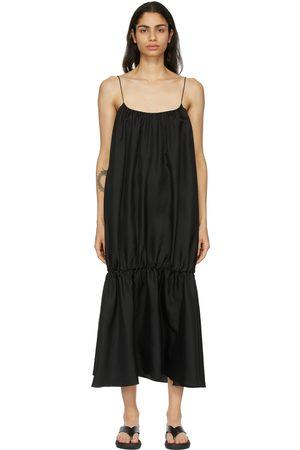 Esse Studios Silk Gathered Strap Dress