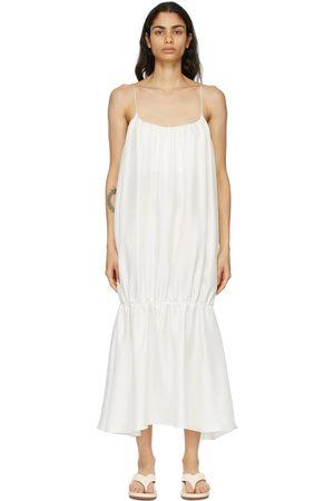 Esse Studios SSENSE Exclusive Silk Gathered Strap Dress