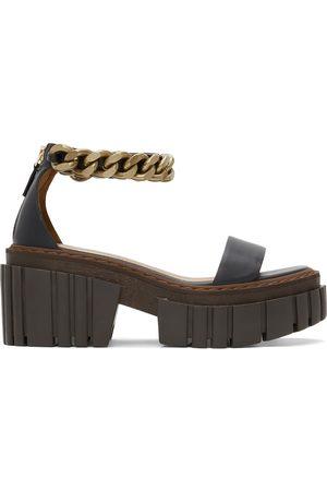 Stella McCartney Women Platform Sandals - Chain Falabella Platform Sandals