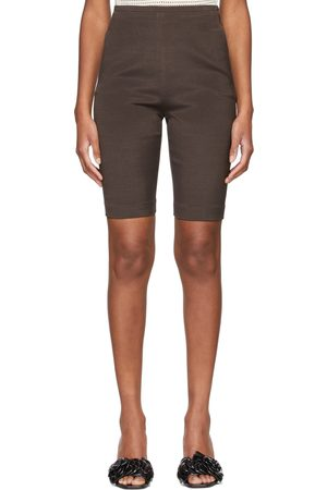 VALENTINO Brown Wool & Silk Bermuda Shorts