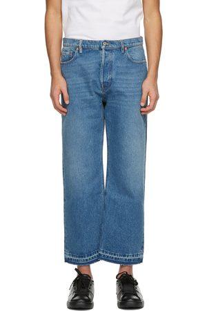 VALENTINO And Navy Denim Paneled Jeans