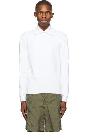 VALENTINO Crepe Long Sleeve Polo
