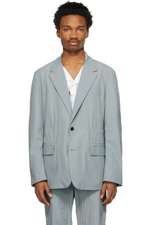 VALENTINO Grey Nylon Sports Blazer