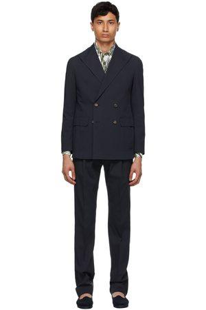 DoppiaA Navy Seersucker Aadolfo Suit