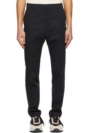 Ami Navy Cigarette Fit Trousers