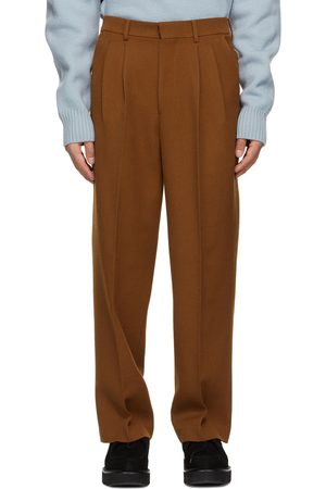 Ami Men Wide Leg Pants - Wide Fit Pleated Trousers