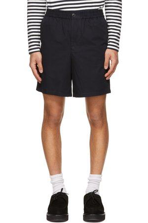 Ami Navy Elasticized Waist Bermuda Shorts