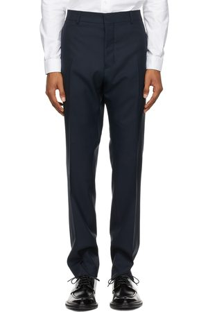 Ami Navy Wool Cigarette Trousers