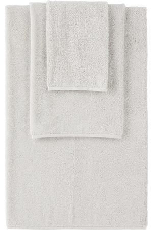 Tekla Grey Organic Three-Piece Towel Set