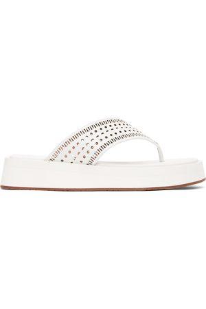 Alaïa Vienne Plastron Platform Sandals