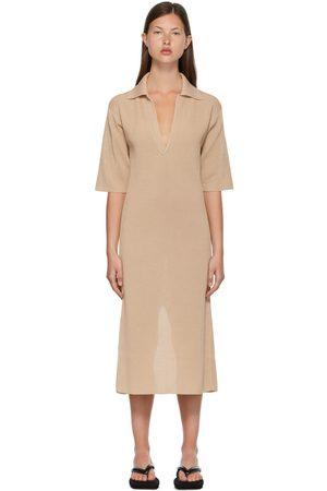 Auralee Flat Yarn Rib Knit Skipper Dress