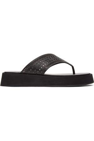 Alaïa Women Platform Sandals - Vienne Plastron Platform Sandals
