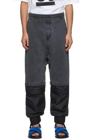 JERIH Men Jeans - Paneled Jeans
