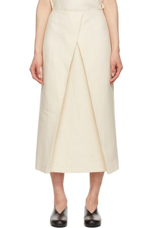 LE17SEPTEMBRE Off- Linen Front Layered Skirt