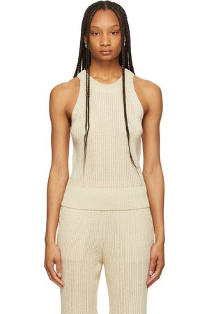 LE17SEPTEMBRE Linen-Blend Rib Knit Tank Top