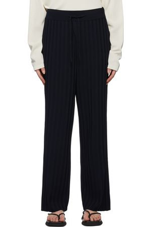 LE17SEPTEMBRE Navy Ribbed Knit Lounge Pants