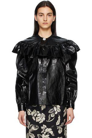 Meryll Rogge Patent Linen Shirt Jacket