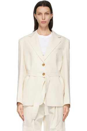 DRAE Women Blazers - Off- Linen Canvas Blazer