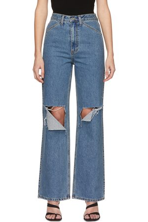DRAE Women Jeans - Destroyed Mid-Rise Jeans