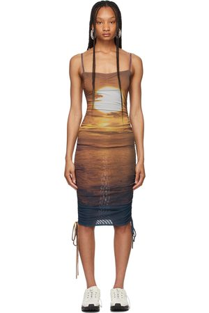 PRISCAVera Mesh Ruched Dress