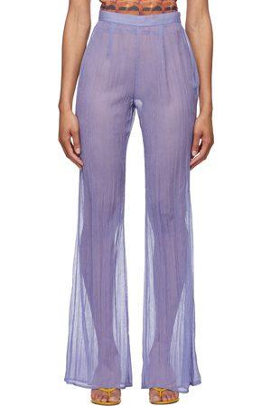 PRISCAVera Chiffon Fitted Flared Lounge Pants