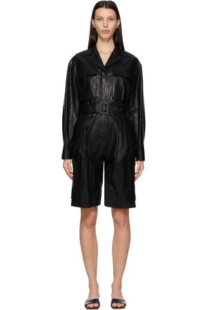 DRAE Faux-Leather Jumpsuit