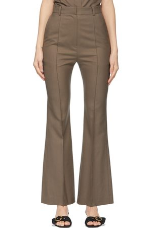 DRAE Women Wide Leg Pants - Summer Wool Bootcut Trousers