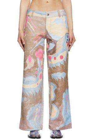 Chopova Lowena Women Jeans - SSENSE Exclusive Faye Wei Wei Marbled Jeans