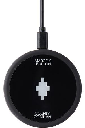 MARCELO BURLON Black & White Cross Wireless Charger