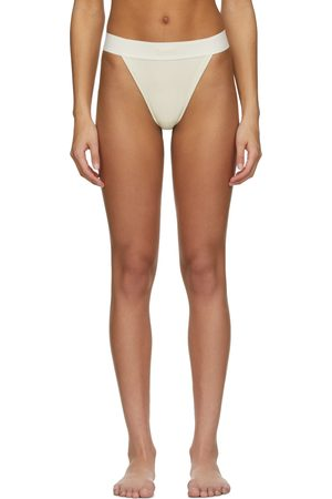 SKIMS Women Thongs - Off- Cotton Rib Thong