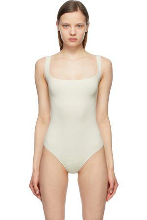 SKIMS Off- Cotton Rib Bodysuit