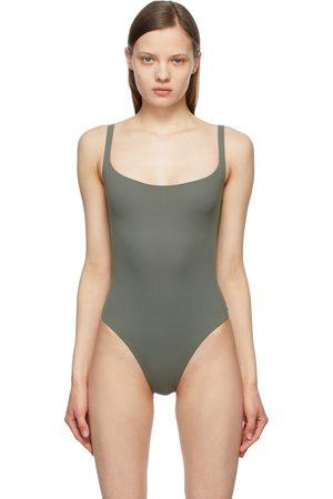 SKIMS Grey Fits Everybody Square Neck Bodysuit